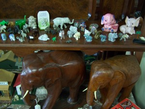 Elephant in all shapes, sizes and textures for the collectors can be found at Bahoukas Antiques