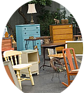 photo of pieces of painted collectible furniture