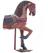 photo of old fashioned carousel horse