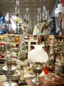 Selection of vintage oil lamps to keep you safe and comfy during the winter months.