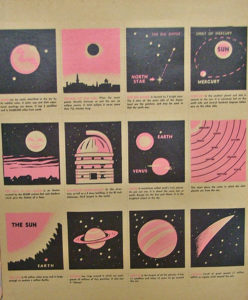 space people educational trading cards by Archer Toys 1952 - at Bahoukas