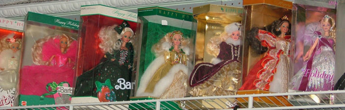 Holiday Barbie Dolls at Bahoukas Antique Mall in Havre de Grace