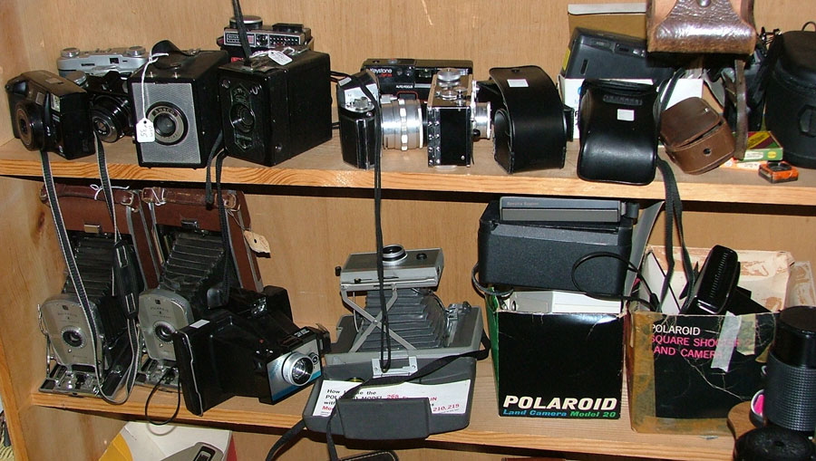 cameras, cameras and more cameras at Bahoukas in Havre de Grace