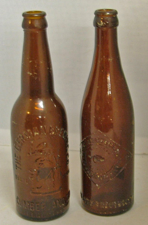1920s Maryland brewery beer bottles available in Havre de Grace at Bahoukas