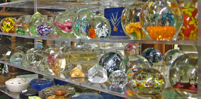 Beautiful glass paperweights - perfect for your desk or any shelf - available at Bahouaks