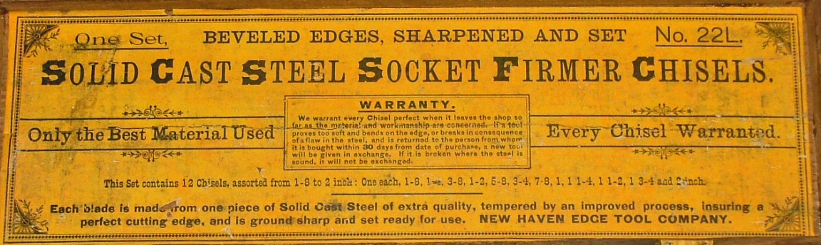 socket chisels detail from the label