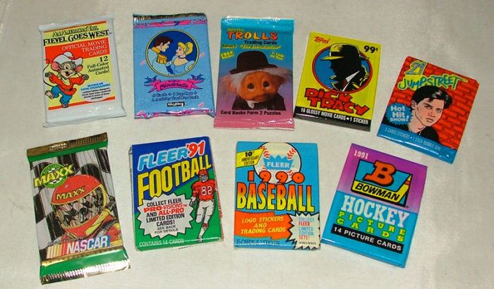 trading cards - sports and non-sports - available at Bahoukas