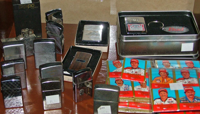 Zippo lighters and Winston Cup Nascar Driver Matchbooks