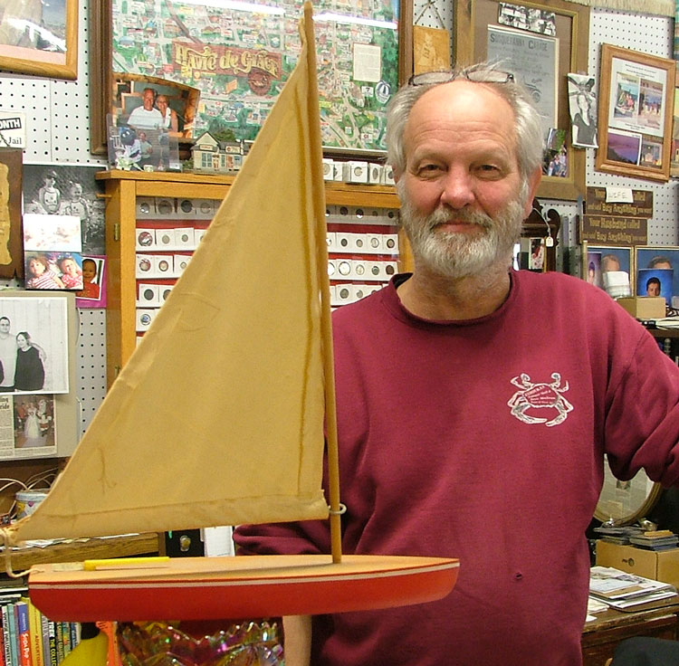 George shares the story of the little boy ghost and his favorite sailboat at Bahoukas in Havre de Grace MD