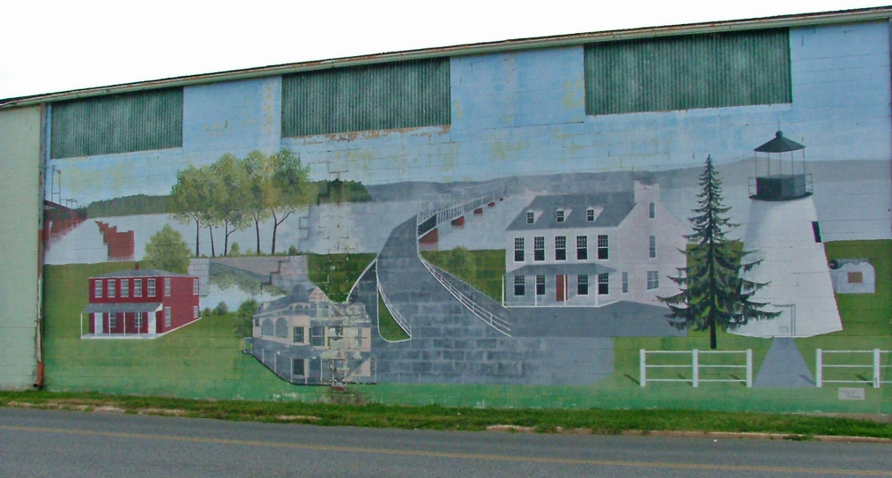 Wall mural that was originally on the side of the Beer Distributor building owne by the Asher Family in Havre de Grace