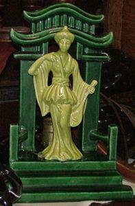 TV lamp beautiful oriental lady - Bahoukas Antiques