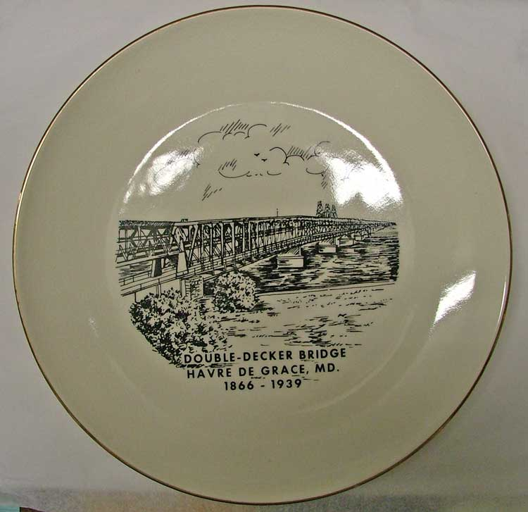 Havre de Grace Double Decker Bridge Commemorative Plate