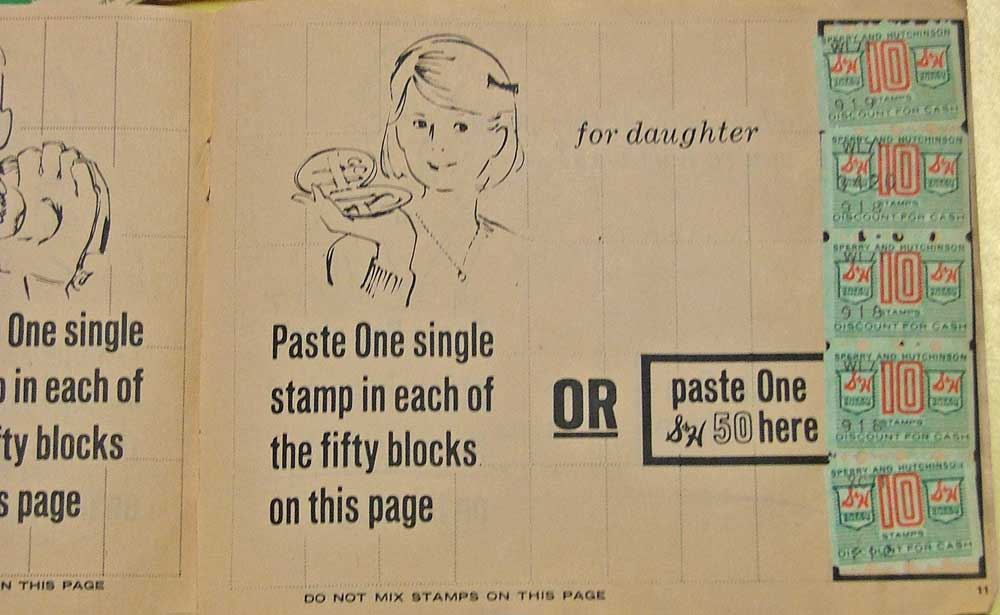 Paste your stamps in the S&H Green Stamps booklet - Bahoukas in Havre de Grace