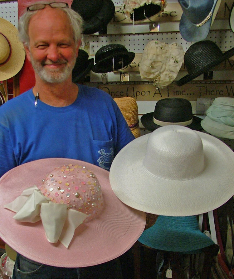 George at Bahoukas checking out the ladies hats just in time for the Preakness!