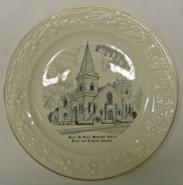 Havre de Grace United Methodist Church Commemorative Plate