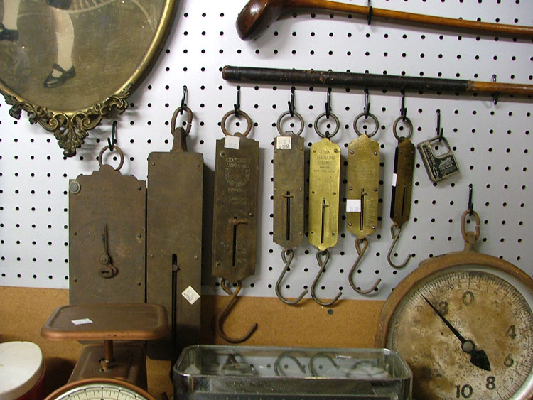 Scales of nearly every size and shape available at Bahoukas in Havre de Grace