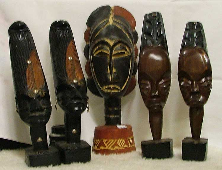 African Art pieces available at Bahoukas