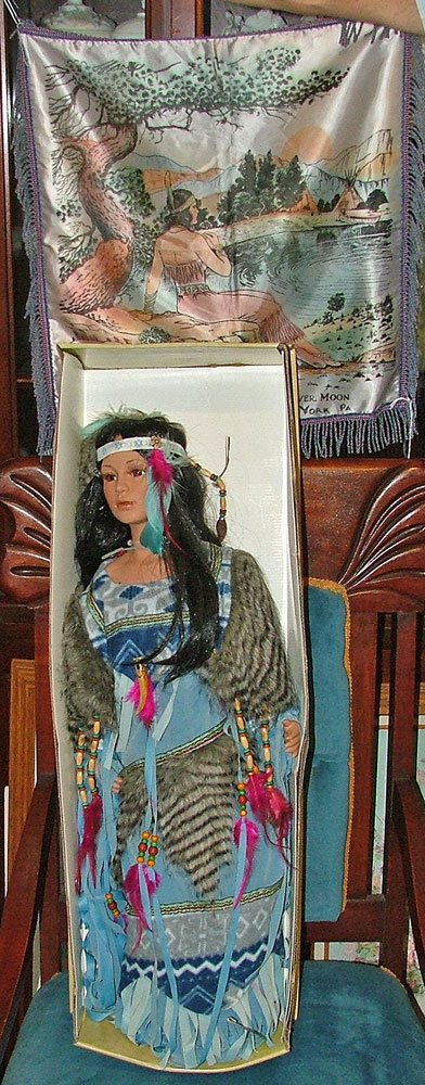 Beautiful Native American Doll - hand painted - at Bahoukas