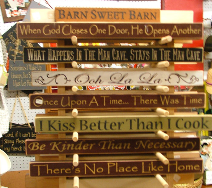 Decorative Signs for your home available in Havre de Grace at Bahouksa