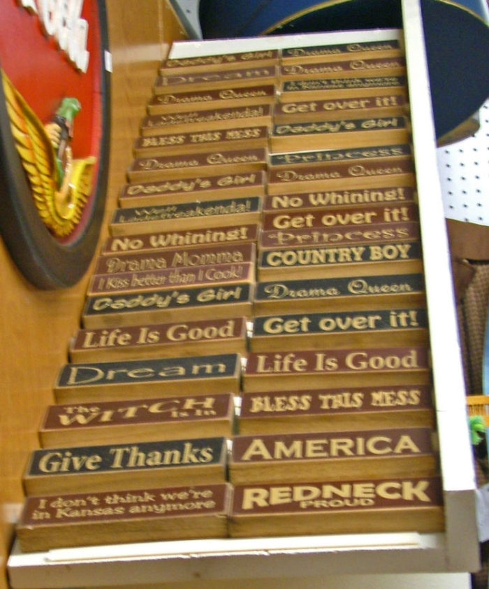 Wonderful selection of decorative signs for your home at Bahoukas