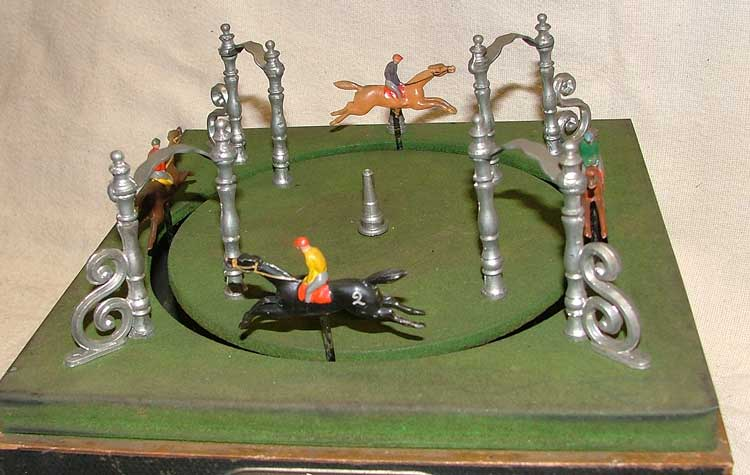 top of 1890 French mechanical horse racing game