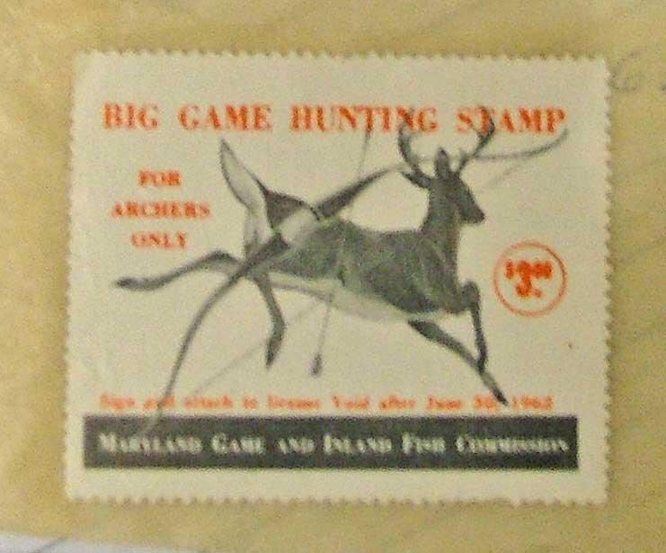 Big Game Stamp for Archers - Maryland - at Bahoukas