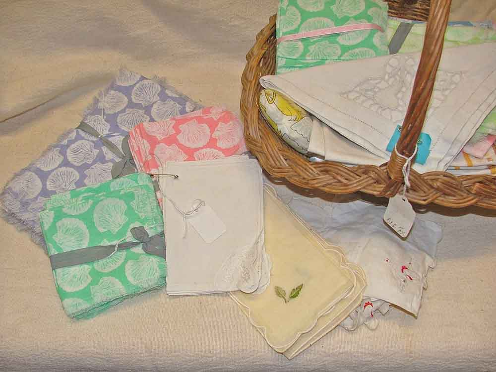 beautiful vintage linens available at Bahoukas