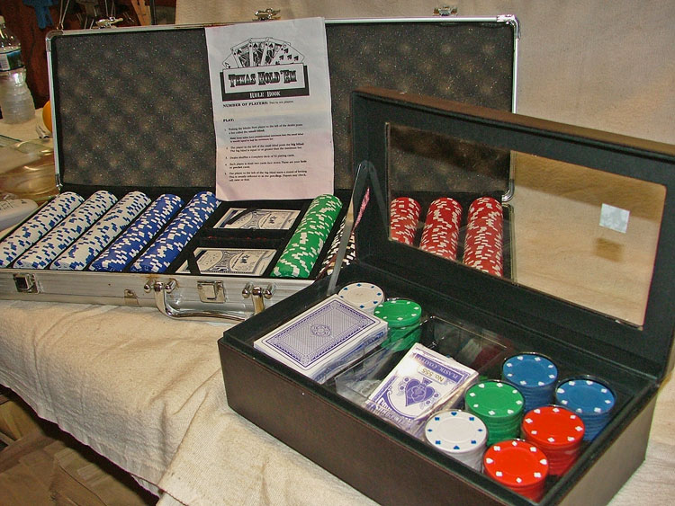 Beautiful sets for the Poker Play on your list available at Bahoukas