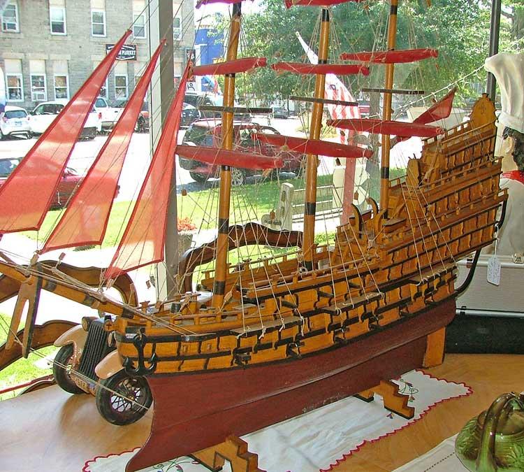 Spanish Galleon model - beautiful - at Bahoukas in Havre de Grace