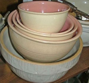 mixing bowls at Bahoukas in Maryland