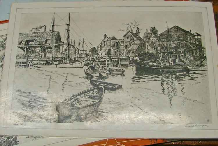 """Placemat with art """"San Pedro"""" by Lionel Barrymore"""