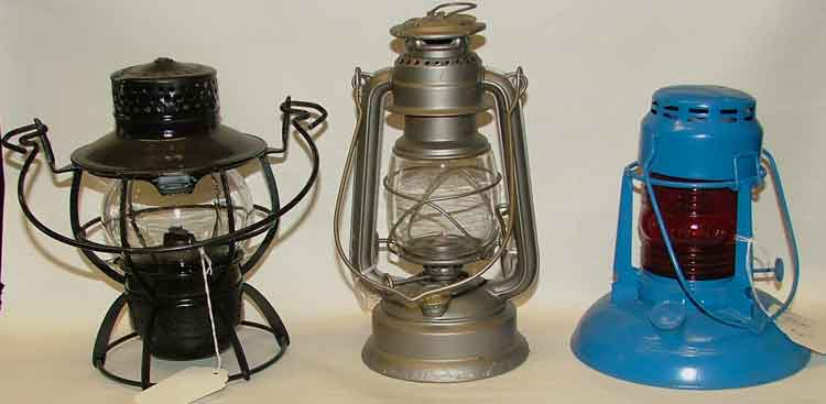 railroad, barn and highway oil lamps