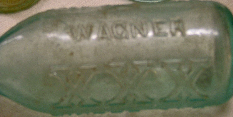 Christian Wagner Giner Ale XXX vintage soda bottle at Bahoukas in Havre de Grace