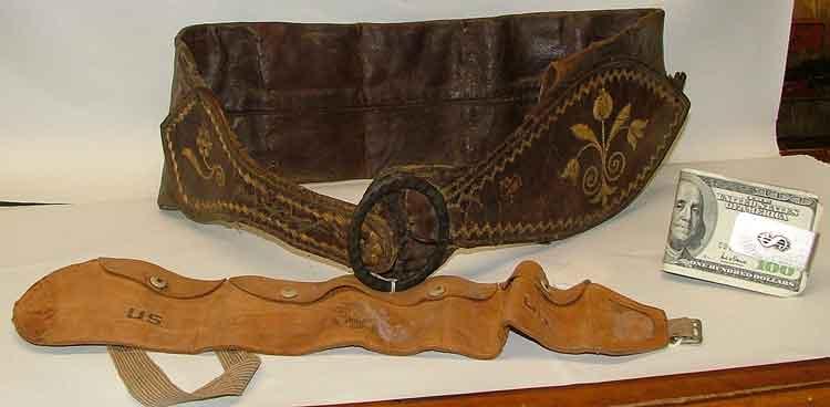 Money Cclip, Army Money Belt, 200 year old money leather money belt