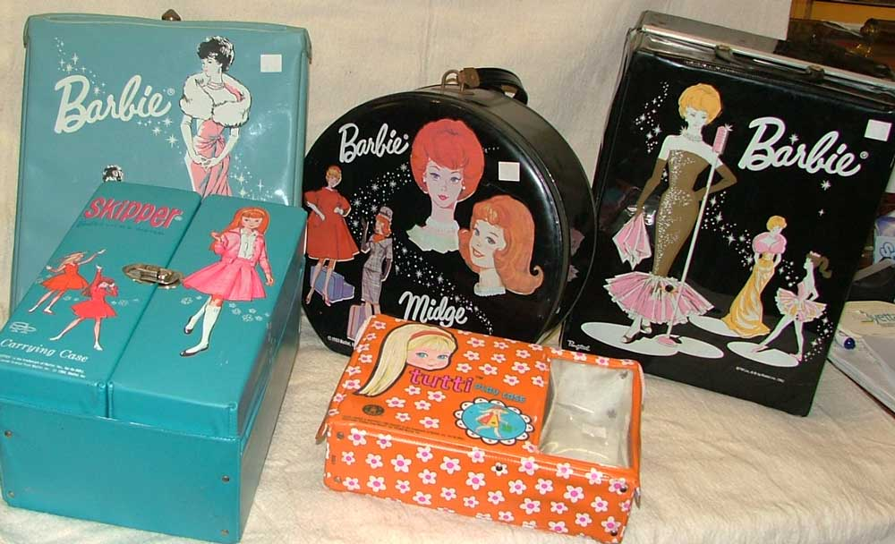 Barbie, Tutti and Skipper small cases