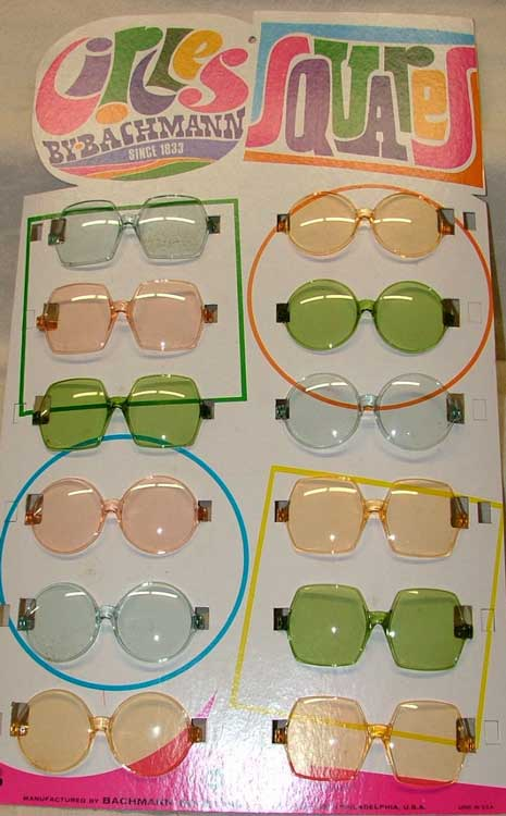 Circles and Squares glasses by Bachmann 1969