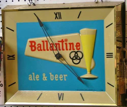 Ballantine clock sign