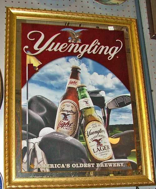 Yuengling mirror with scene painted on it