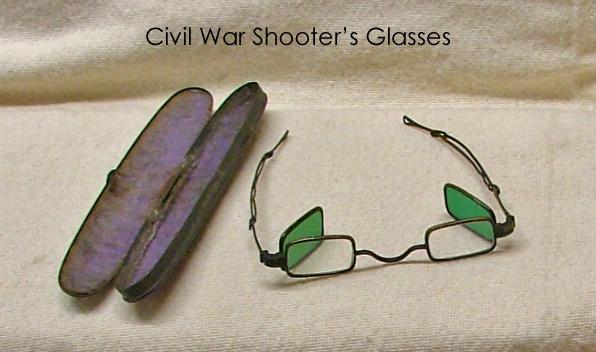 Civil War shooter's glasses