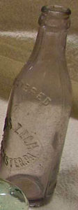 CHas. Zech Lancaster PA crown top vintage soda bottle available at Bahoukas Antique Mall in Havre de Grace Maryland