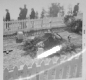 1964 photo of JFK grave site