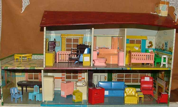 Beautiful Doll House and a great assortment of furnishings available at Bahoukas in Havre de Grace