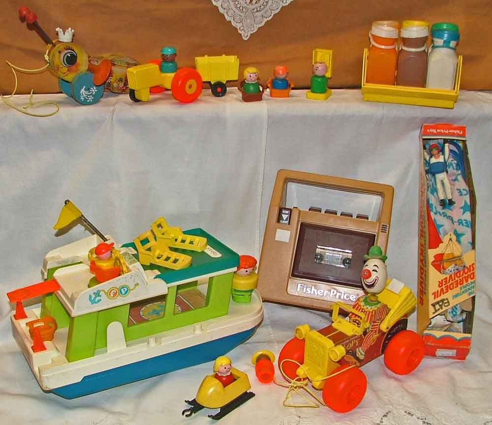 Variety of collectible Fisher-Price Toys available at Bahoukas Antique Mall in Havre de Grace, MD