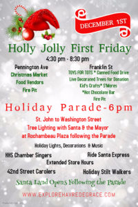 Havre de Grace Holly Jolly First Friday and Tree Lighting Ceremony