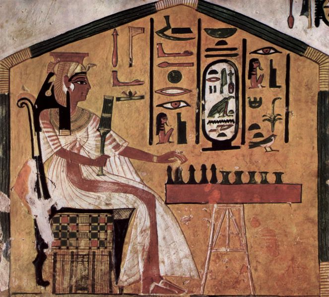 Nefertari playing Senet from originalpeople.org