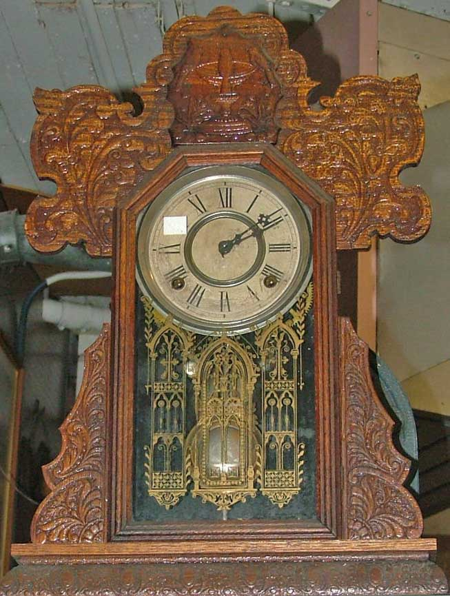 Gingerbread style collectible mantle clock