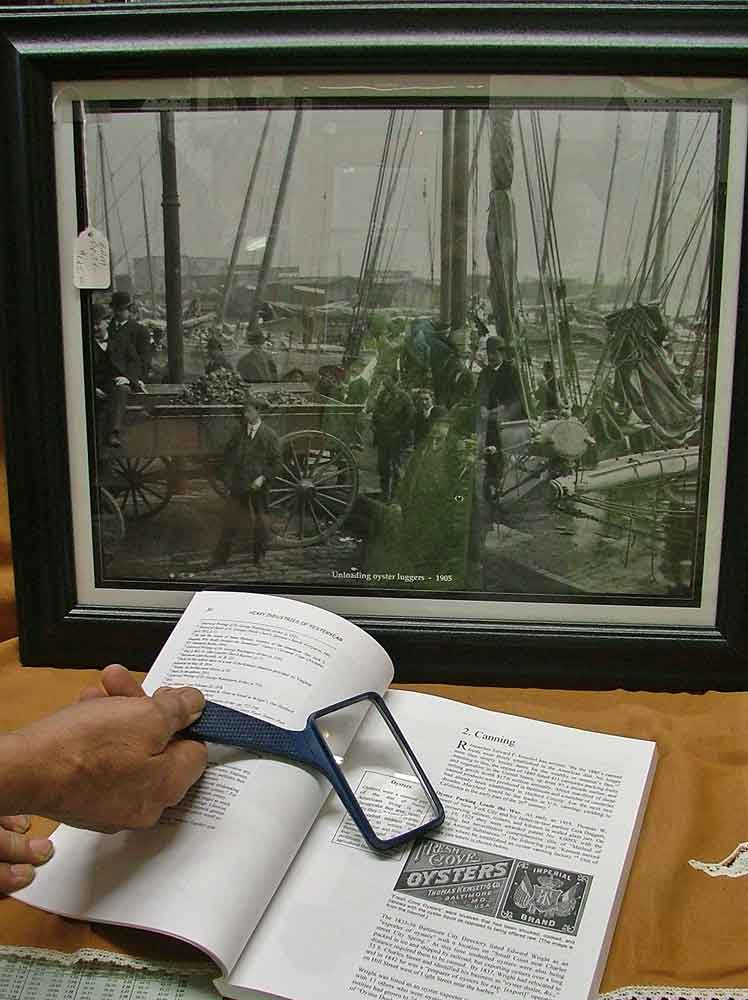 "framed print ""Unloading Oyster Luggers 1905"""