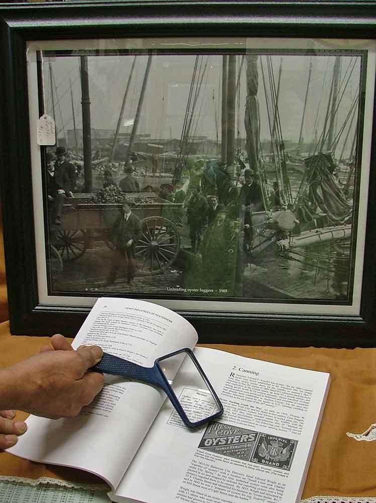 "framed print ""Unloading Oyster Luggers 1905"""