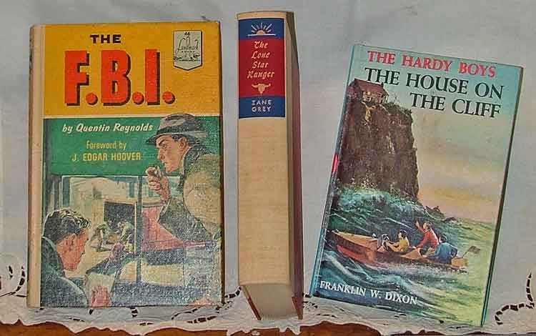 Wonderful Collectible Books available at Bahoukas Antique Mall include The F.B.I., Zane Grey Novels and The Hardy Boys