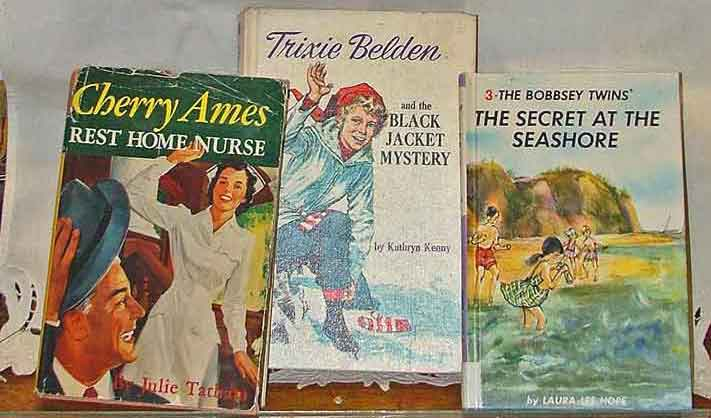 Collectible books available at Bahoukas include Cherry Ames, Trixie Belden and The Bobbsey Twins